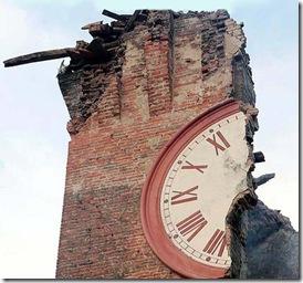 Torre Orologio Finale Emila crollato per terremoto (mag 2012)