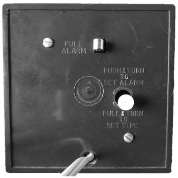 Back of Minicube alarm clock