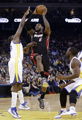 lebron james nba 130116 mia at gsw 30 King James Becomes Youngest to 20k Points in LeBron X PE