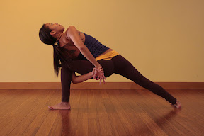Utitha Pasvakonasana (variation): Extended side flank stretch