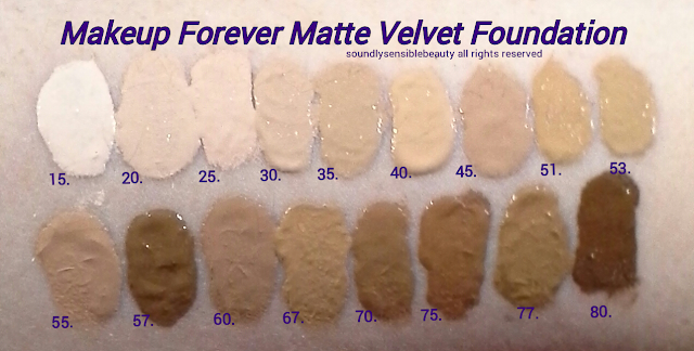 MUFE Matte/Makeup Forever Mat Velvet Foundation +; Review & Swatches of Shades