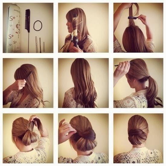 Прически на средние волосы в домашних условиях фото пошагово в школу