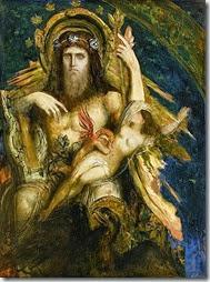 Zeus et Sémélé par Gustave Moreau