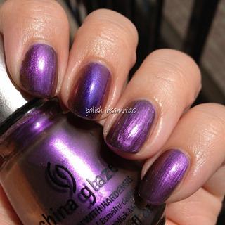 China Glaze No Plain Jane (Ozotic Pro 504 on middle finger)