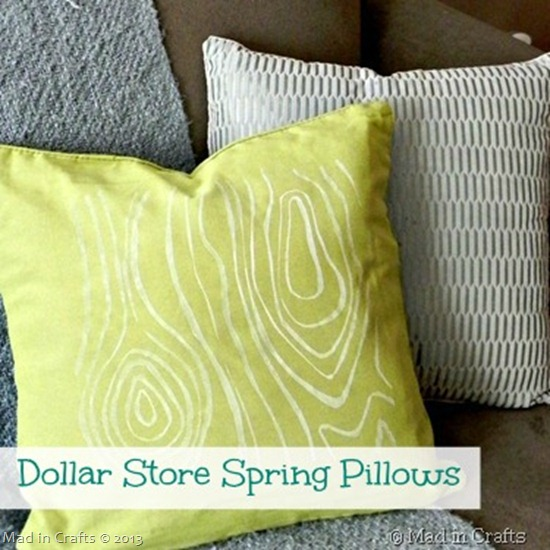 dollar store spring pillows