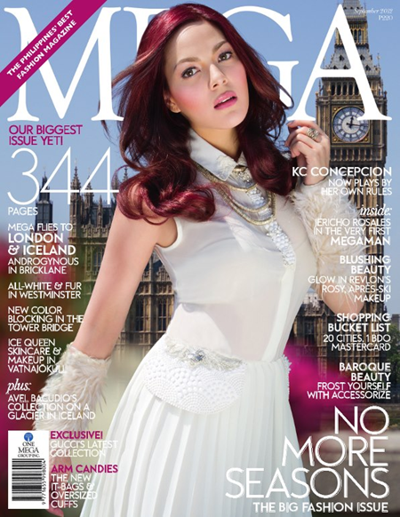 KC Concepcion on Mega Sept 2012 cover