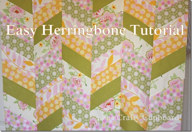 scrappy chevrons herringboned quilt top title