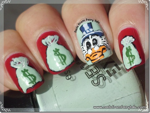uncle scrooge nail art