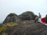 Having a rest at the second highest top of Puncak Serendit on Gunung Ranai (Dan Quinn, September 2013)