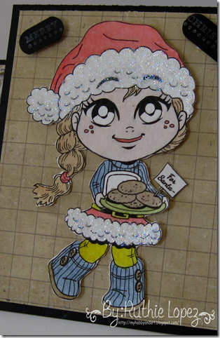 Kenny K digis - Santa Cookies - Center Step Card - Silhouette Cameo - 613 Avenue Create - Ruthie Lopez DT 2