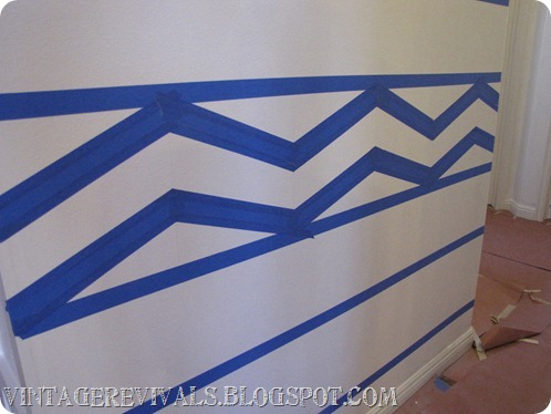 DIY Striped Chevron Wall Treatment 412