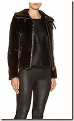 Armani Jeans Faux Fur Short  Biker Jacket