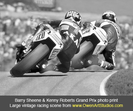 Auto Racing Paintings on 500cc Vintage Motorcycle Racing Photo Picture  Motorsports Racing