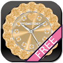 Cute Custom QLOCK Gold-Gratis icon