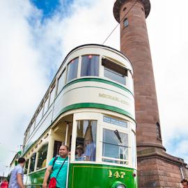 Fleetwood Tram by Ian Clamp - Transportation Trains ( rails, vintage, tram, electric tram, fylde, cleveleys, passenger, fleetwood, tower, lancashire, transport festival, tram sunday, blackpool )