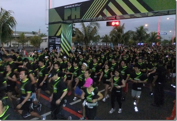 Nike we run manila start