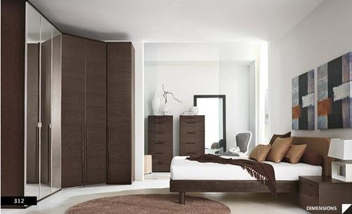 diseños de dormitorios modernos con paredes decoradas