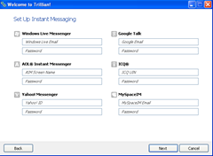 Set up Instant Messaging Trillian