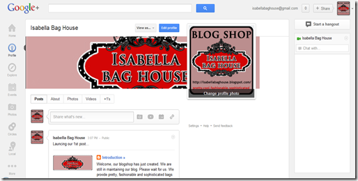 google+ isabella bag house