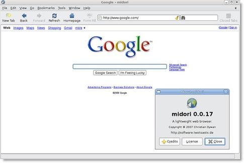 Midori - navegador para Linux