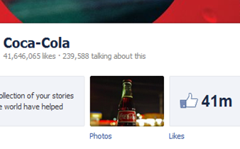 cocacola facebook page