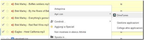 Google Drive apri file audio con DriveTunes