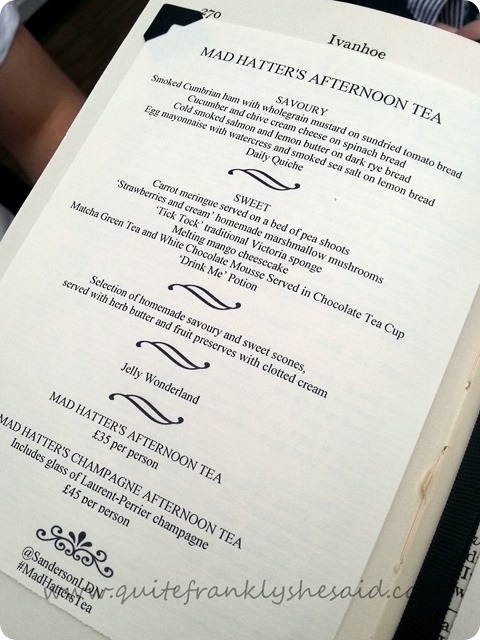 1 mad hatter's afternoon tea sanderson hotel menu