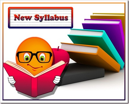 NEW SYLLABUS OF CLASS-XII