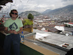 Chilling up on the rooftop terrace at Secret Garden in Quito.
