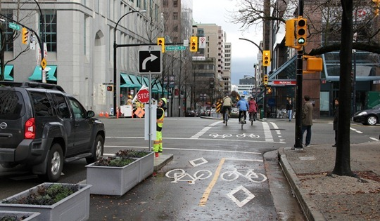 Vancouver Hornby Separated Bike Lanes