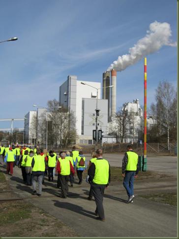 Saimaan metsänomistajat tutustuivat Kaukaan Voima Oy:n biovoimalaitokseen Lappeenrannassa.