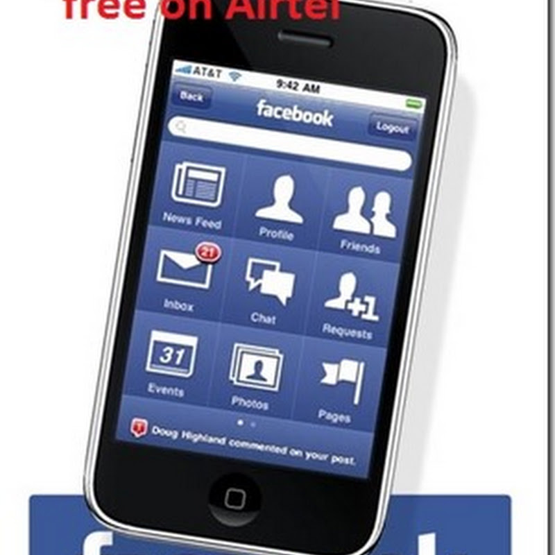Facebook app free for airtel April 2013