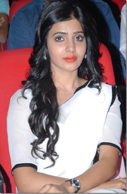 Samantha in White Saree photos at Seetamma Vakitlo Sirimalle Chettu Platinum