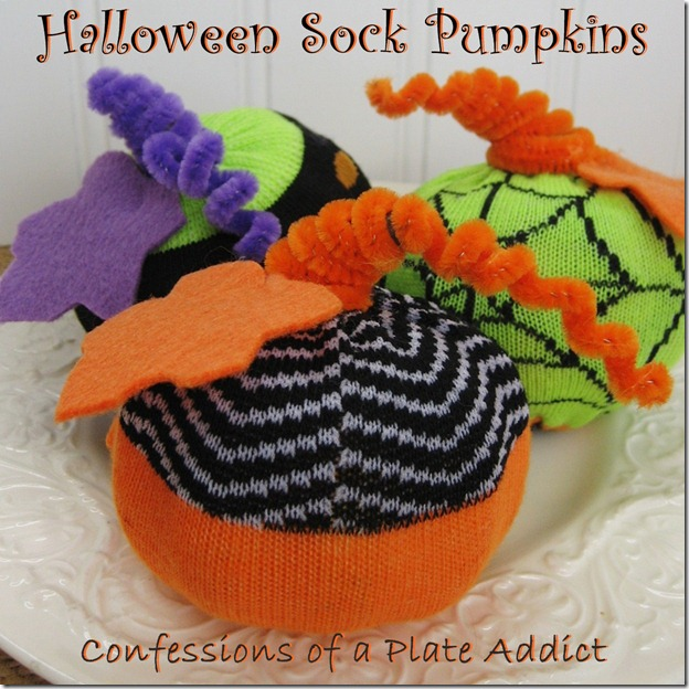 Halloween Sock Pumpkins 4