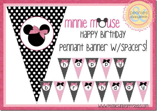 minnie mouse pennant banner copy