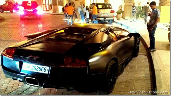 And suddenly a wild black Lamborghini appears!