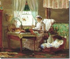 Edward Lamson Henry (American genre painter, 1841–1919) Sewing