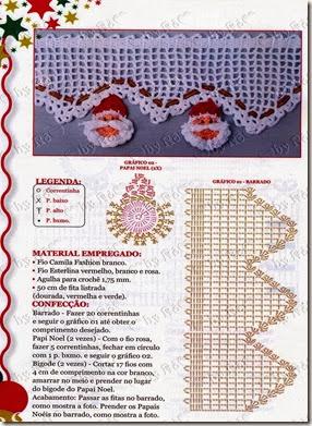 4-GRÁFICO CROCHÊ BARRADO PAPAI NOEL