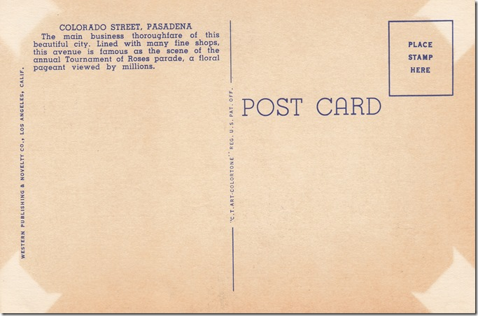 East Colorado Street, Pasadena, California Pg. 2