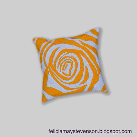 Yellow rose cushion by felicianation on store envy