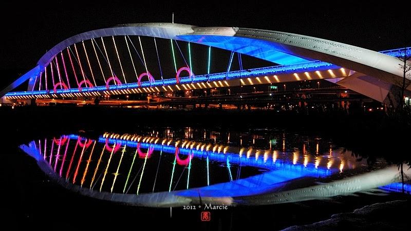 新北市 陽光橋 夜景