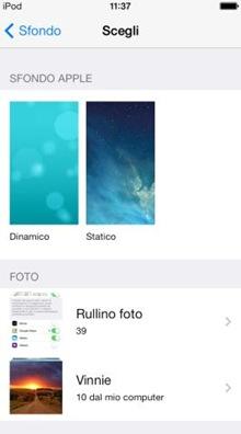iOS 7 sfondi statici