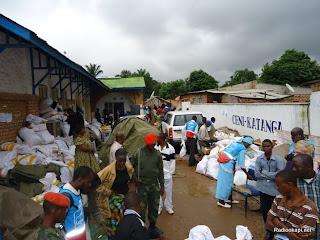– Des colis de procès-verbaux et des bulletins de vote empilés dans un centre de compilation de la Ceni à Lubumbashi (Katanga), le 29 novembre 2011. Radio Okapi