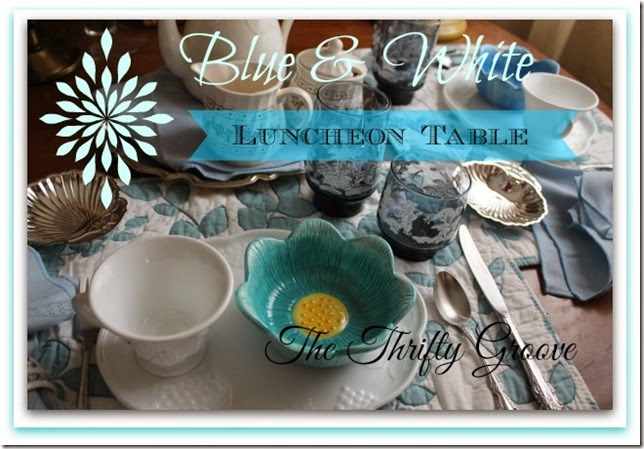 Blue & white Luncheon Table H
