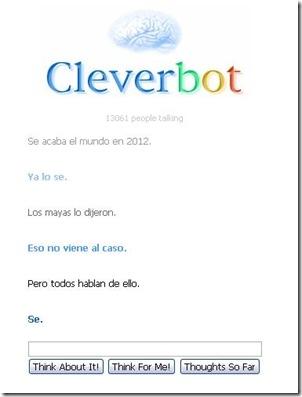 clever bot en español platica con un robot en linea