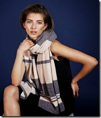 Me & Em Cashmere Stripe Throw Wrap