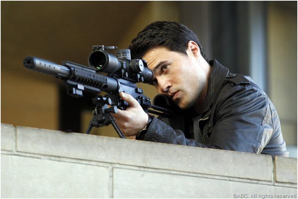 Agent Grant Ward (Brett Dalton) takes aim.