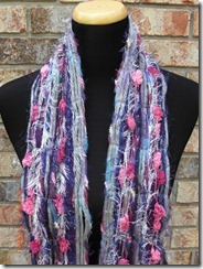 purple and pink scarf
