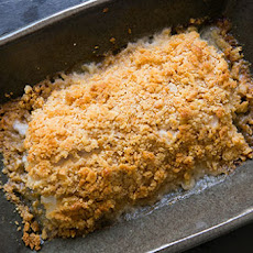 Baked Cod with Ritz Cracker Topping