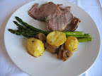 Lamb, potatoes with the roasted lemons, and our holy asparagus.
